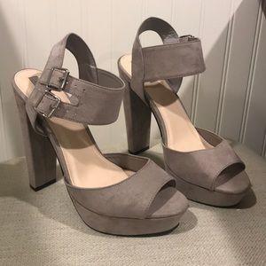 Forever 21 grey platform heels